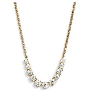 NEW NADRI Crystal Gold/Clear Necklace